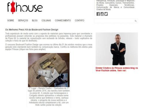 """Divulgação Site """"FHouse"""""""