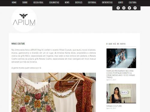 """Divulgação Site """"Apium Magazine"""""""