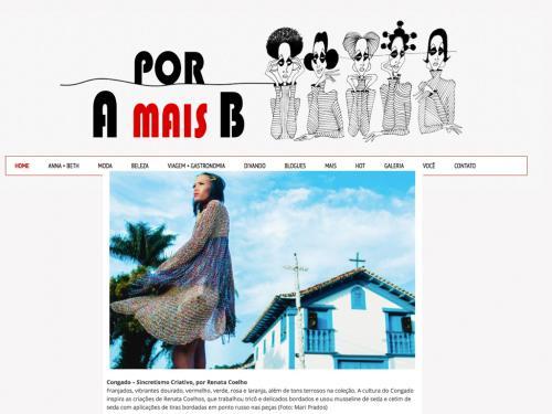"""Divulgação Site """"Por A mais B"""""""