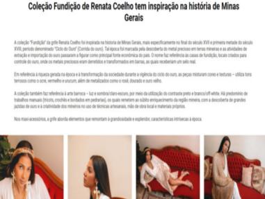 """Divulgação Site """"Minas Trend"""""""