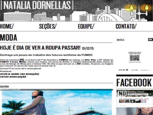 """Divulgação Site """"Natalia Dornellas"""""""