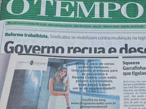 """Divulgação Jornal """"O TEMPO"""""""